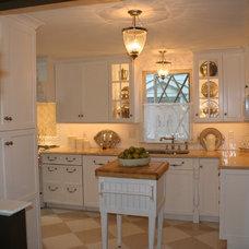 Traditional Kitchen by Mary Porzelt of Boston Kitchen Designs