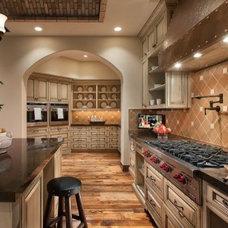 Mediterranean Kitchen by Goodall Custom Cabinetry