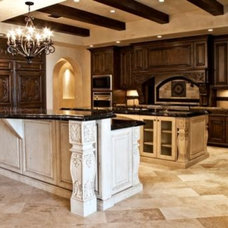 Mediterranean Kitchen by Goodall Custom Cabinetry