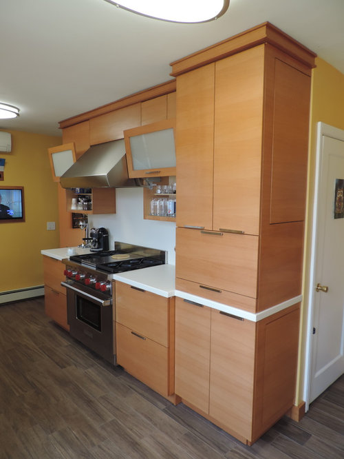 Kitchen Design Ideas Renovations Photos With Light Wood Cabinets And Vinyl Flooring