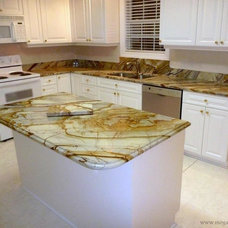 Tropical Kitchen by Granite Countertops by Mogastone