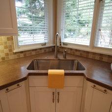 Transitional Kitchen by Greene Designs LLC