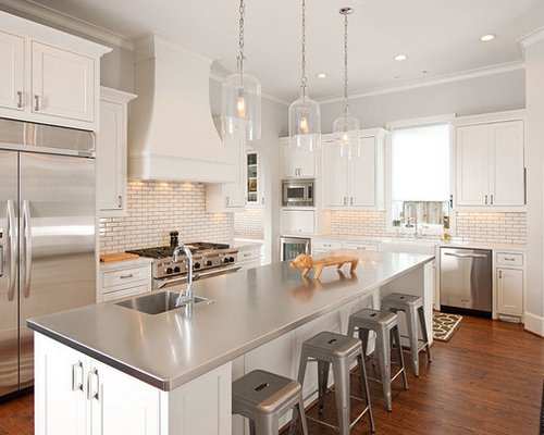 Stainless steel countertops home design ideas pictures for Kitchen 919 reviews
