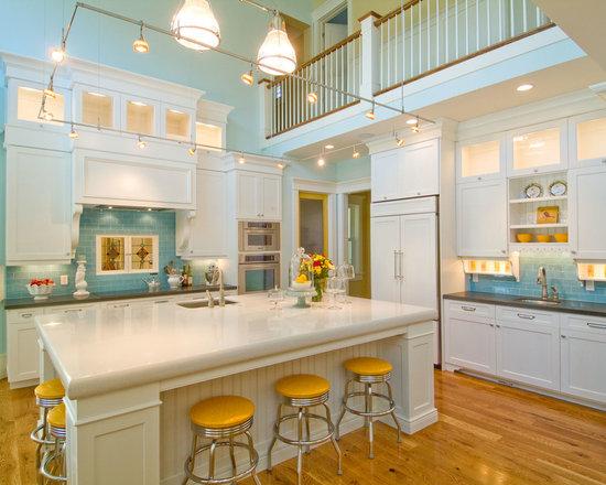 best 70 beach style kitchen with dark wood cabinets ideas & photos