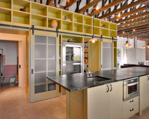 Ideas para cocinas dise os de cocinas industriales con for Puertas para cocinas industriales