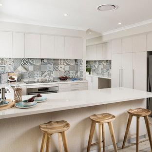 Porcelain Tile Backsplash Material Scandinavian Kitchen