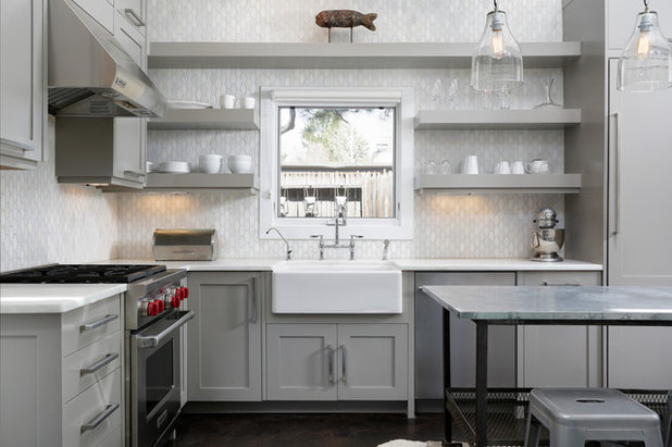 Transitional Kitchen by Joseph Deats Photography