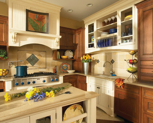 Mixing cabinet colors ideas pictures remodel and decor Kitchen design mixed cabinets