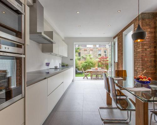White Kitchen Exposed Brick exposed brick kitchen | houzz
