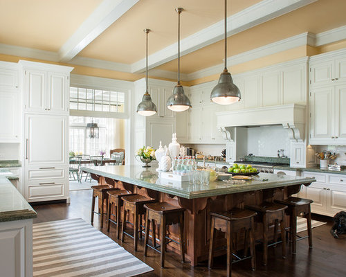 galley kitchen remodel pictures large island houzz 3715