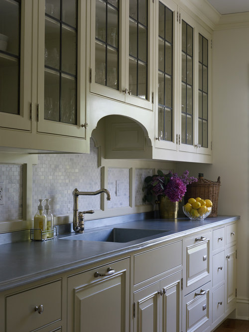 70+ Best Kitchen with Glass-Front Cabinets and Yellow Cabinets Ideas & Decoration Pictures | Houzz