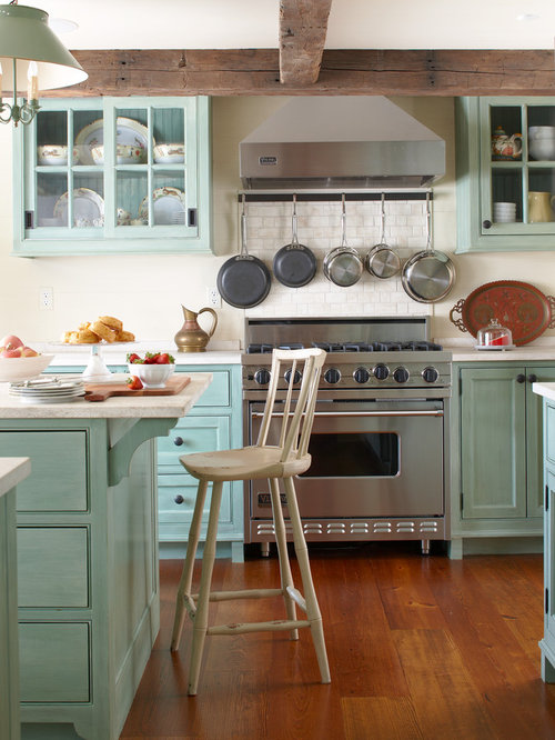 Farmhouse style kitchens houzz - Farmhouse style kitchen cabinets ...