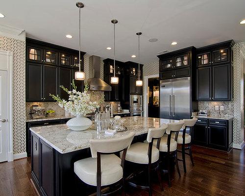 Dark Kitchen Cabinets With Light Granite Dark Cabinets Light Granite  Houzz