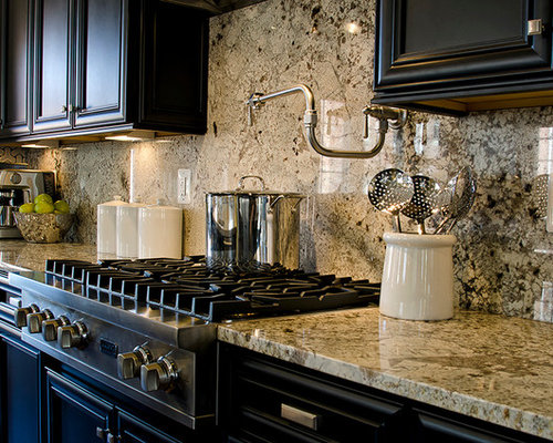 Pictures Of Countertops And Backsplashes full granite backsplash | houzz