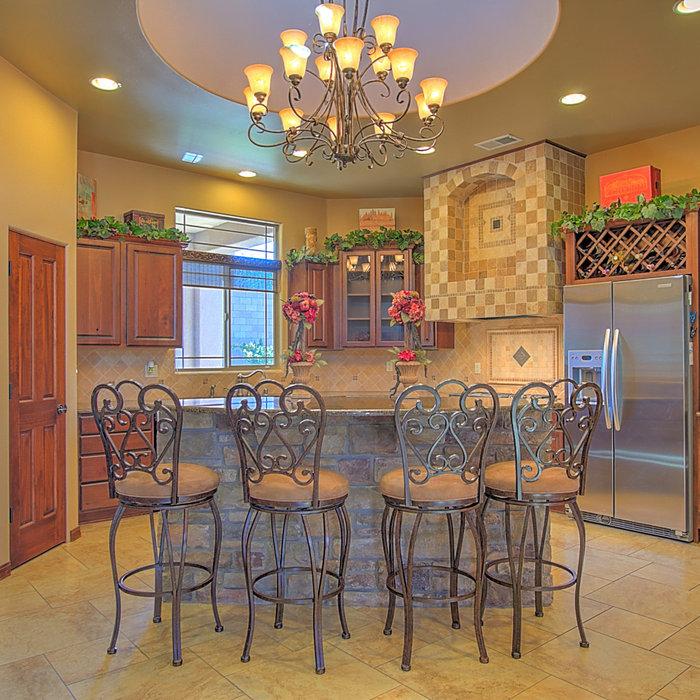 Mediterranean Style Kitchen & Dining Room