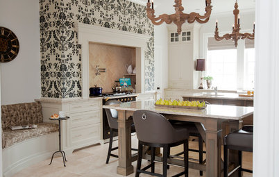 Kitchen of the Week: Updated French Country Style Centered on a Stove