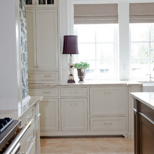Revere Pewter Cabinets Example Of A Clic Kitchen Design In Vancouver