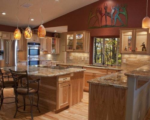 Best 70 burgundy walls kitchen ideas remodeling pictures for Burgundy kitchen ideas