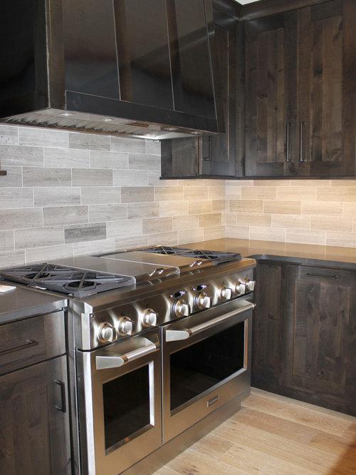 Kitchen design ideas renovations photos with grey for Kitchen zinc design