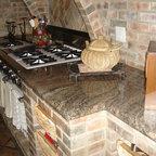 New Venetian Gold Granite Counter Traditional Kitchen
