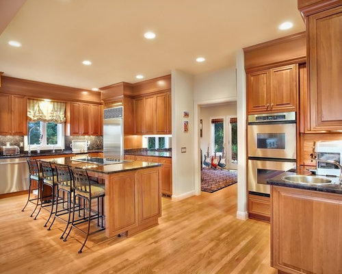 hardwood floor kitchen light cherry cabinets ideas pictures remodel and decor 1574