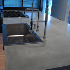 Contemporary Kitchen by Sculptural Design Cast Concrete