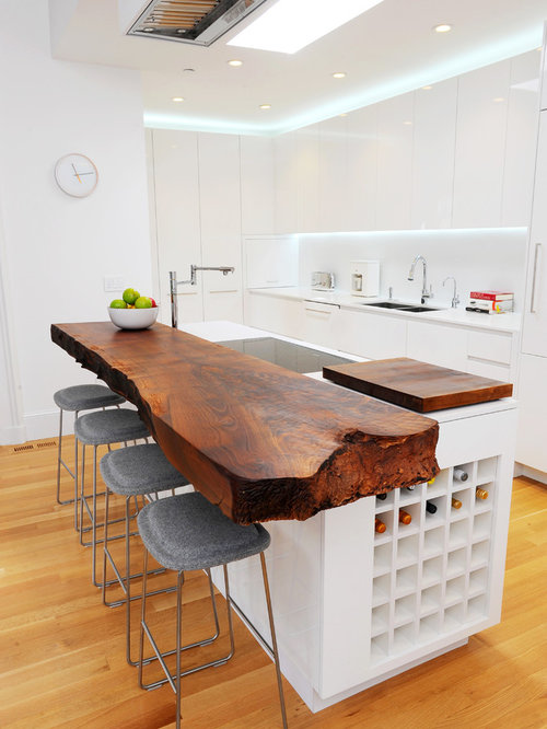 minimalist kitchen interior design. Eclectic galley kitchen idea in San Francisco with a double bowl sink  flat Minimalist Kitchen Houzz
