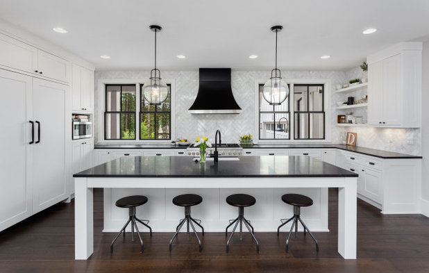 Transitional Kitchen by Simplifying Luxury - Rocha Group