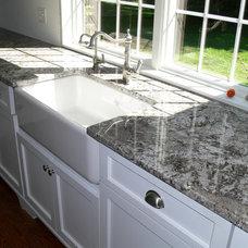 Transitional Kitchen by Stone Art Design, Inc.
