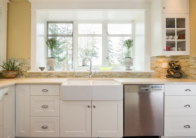 Transitional Kitchen by T Russell Millwork Ltd.