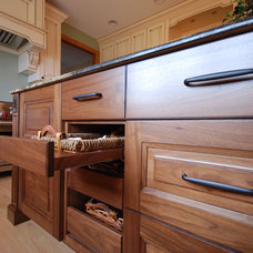 Transitional Kitchen by Priebe's Creative Woodworking