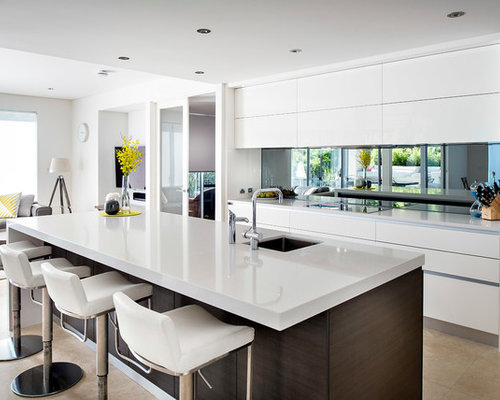 Mirrored Splashback Home Design Ideas, Renovations & Photos