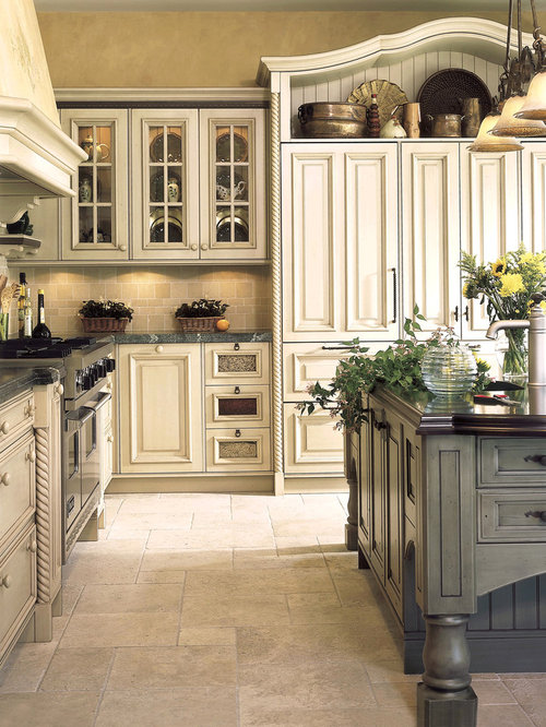 Ivory-Glazed Cabinets Ideas, Pictures, Remodel and Decor