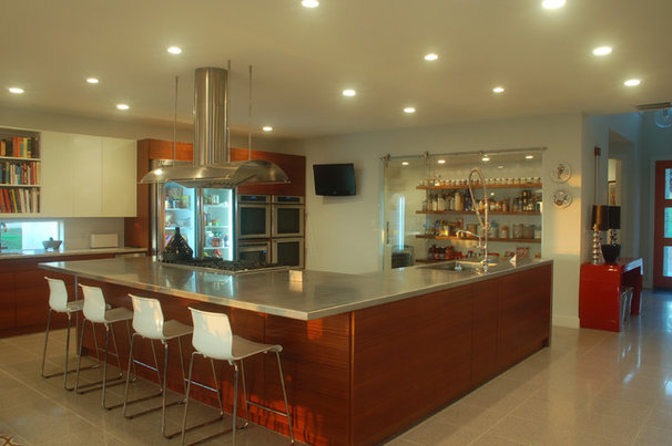 Contemporary Kitchen by Cornerstone Architects