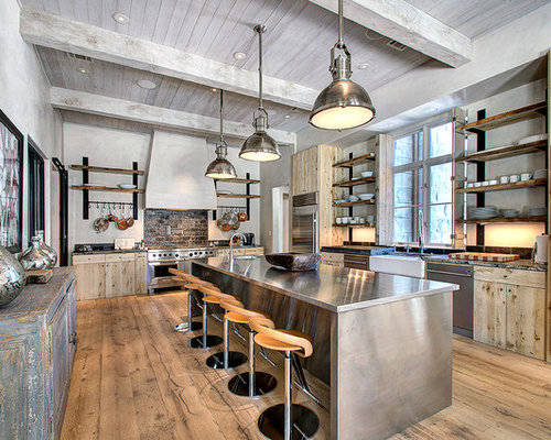 Rustic Industrial Home Design Ideas Pictures Remodel And