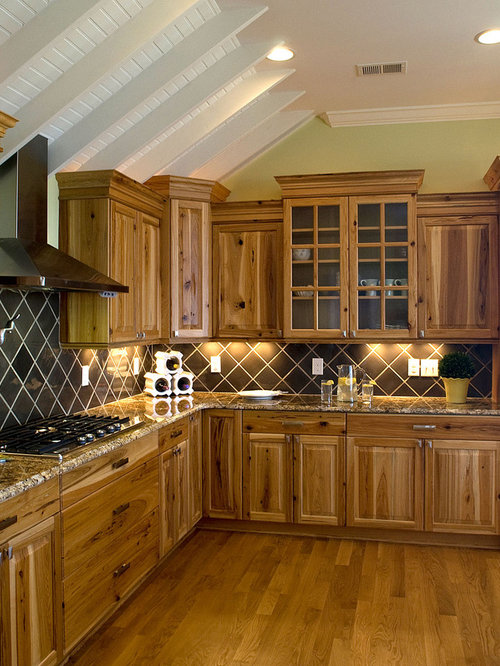 paint kitchen backsplash hickory cabinets home design ideas pictures remodel and 14500