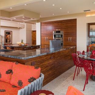Koa Kitchen in Artistic Wailea Oceanview Remodel