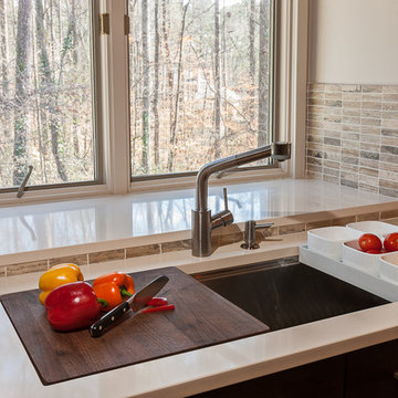 KOHLER STAGES SINK WITH INTEGRATED CUTTING BOARD AND PREP BOWLS