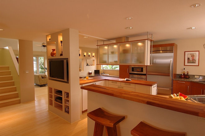 Asian Kitchen by Archipelago Hawaii Luxury Home Designs