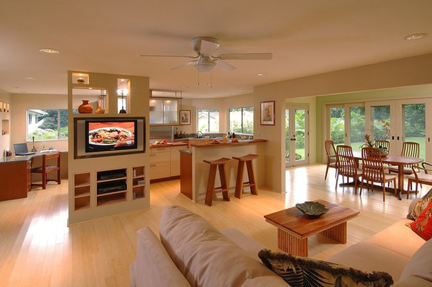 Asian Kitchen by Archipelago Hawaii Luxury Home Designs