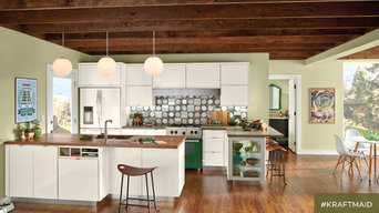 KraftMaid: Maple Kitchen Cabinetry in Dove White