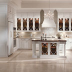 KraftMaid: Maple Square Recessed Door in Canvas and Onyx - Transitional - Kitchen - Detroit - by ...