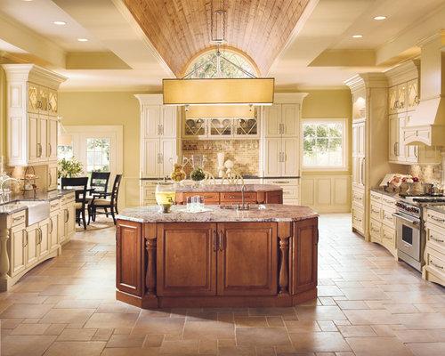 Kraftmaid Dakota Rustic Birch In Burnished Praline Cabinets Kitchen Design Ideas & Remodel ...