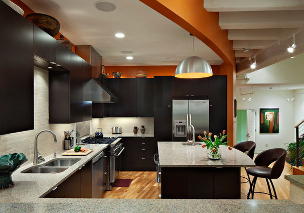 Contemporary Kitchen by Ellen Cassilly Architect