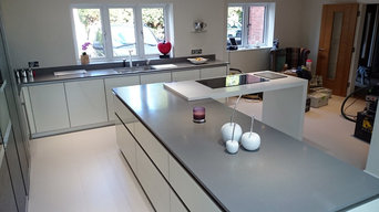 Krion Worktop & Island - Grey and White Combination