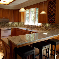 Traditional Kitchen by DK STONE