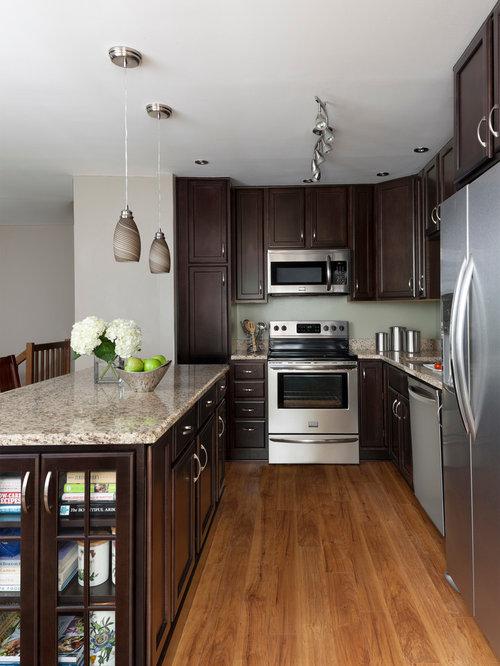Merillat classic spring valley maple in kona kitchen for Merillat kitchen cabinets
