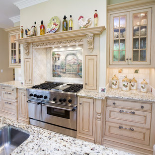 Inspiration for a timeless kitchen remodel in Chicago with beaded inset cabinets