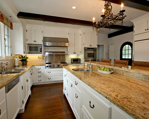 white cabinets brown countertops | houzz