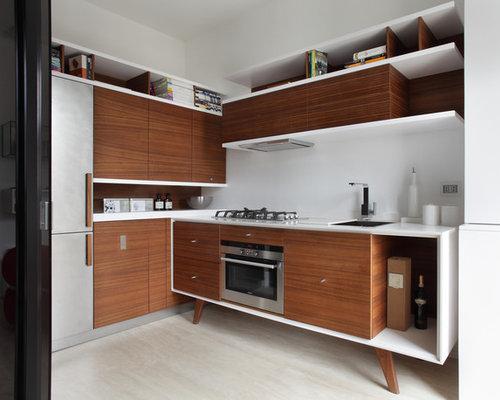 Cucina moderna con pavimento in marmo - Foto e Idee per Arredare